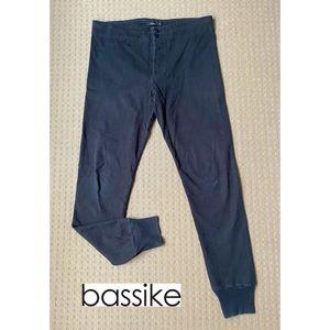 Bassike Black Cotton Blend Skinny Jogger Pants M